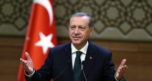 "FILE  - A handout picture made available by the Turkish Presidential Press Office shows Turkish President, Recep Tayyip Erdogan, speaking during a meeting with in Ankara, Turkey, 12 August 2015.EPA/PRESIDENTIAL PRESS OFFICE / HANDOUT HANDOUT EDITORIAL USE ONLY/NO SALES (zu dpa ""Erdogan weist Kritik an Umgang mit Journalisten zurück"" vom 31.03.2016) +++(c) dpa - Bildfunk+++"