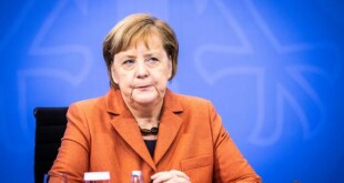 epa08881147 German Chancellor Angela Merkel during a press conference after a video conference with German State Premiers about increased anti-coronavirus measures to be implemented on upcoming 16 December, in Berlin, Germany, 13 December 2020.  EPA-EFE/RAINER KEUENHOF / POOL